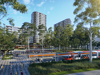 Artist's Impression – Light Rail Station