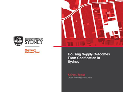 Housing Supply Outcomes from Codification in Sydney
