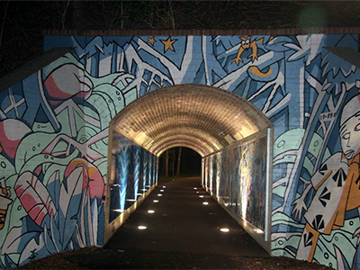 Hawthorne Canal Mural on the GreenWay at Leichhardt