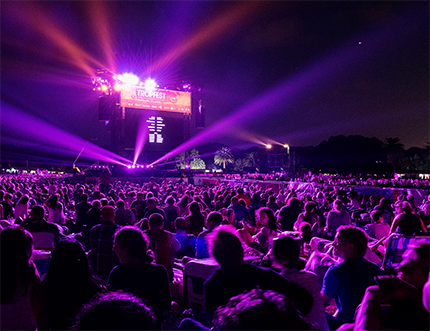 The large crowds at 2016's Tropfest short film festival.