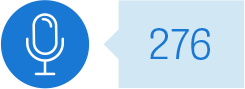 Microphone icon: 276 individuals engaged through: