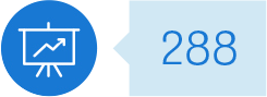 Chart icon: 288 individuals engaged as: