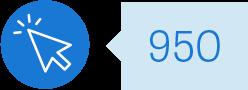 Mouse click icon: 950:
