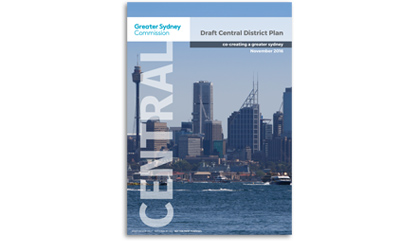 Draft Central District Plan cover