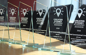 Greater Sydney Planning Awards trophies