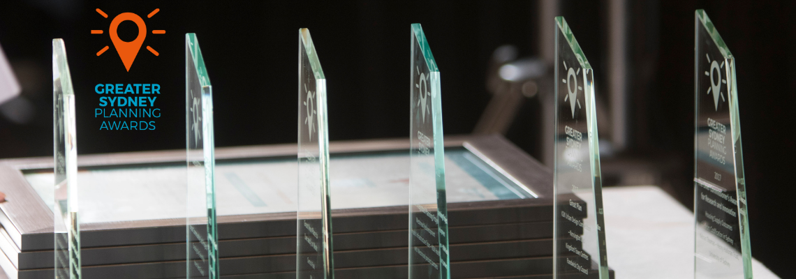 2018 Greater Sydney Planning award trophies