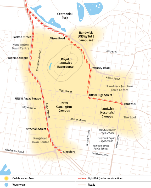 Map of Randwick Collaboration Area