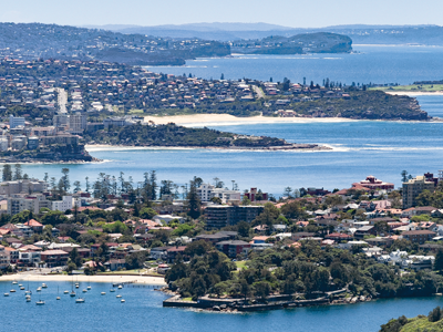 Aerial view of Northern Beaches