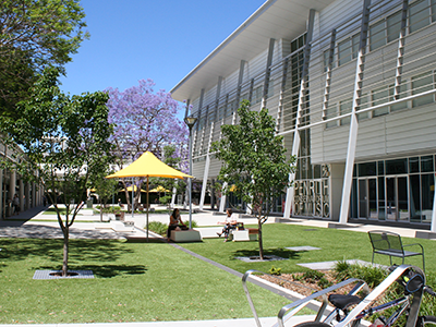 Example of greenspace incorporated into a public building