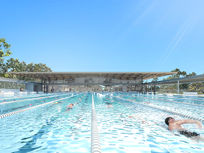 Artist impression of public swimming pool