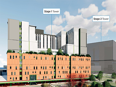 Artist's Impression – Nepean Hospital Redevelopment Stages 1 & 2